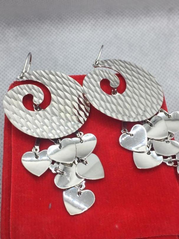 Fancy Design Silver Earring .
