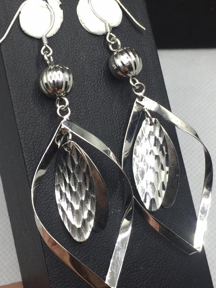 Fancy Design Silver Earring.