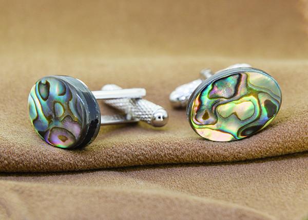 Natural Abalone / Paua Shell Cufflinks