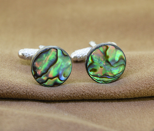 Natural Abalone / Paua Shell Cufflinks 14mm