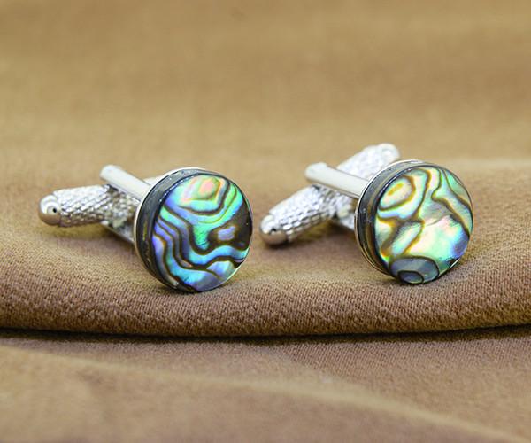 Natural Abalone / Paua Shell Cufflinks - 12mm