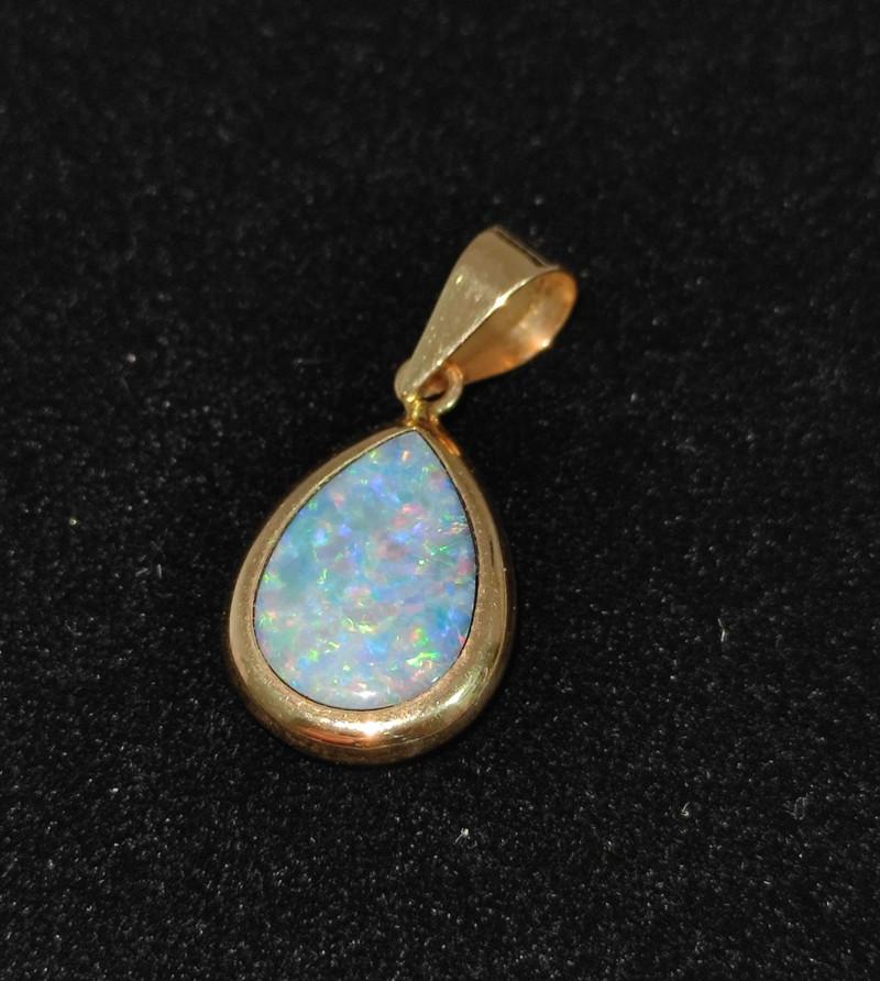 14k gold pendant - drop shape