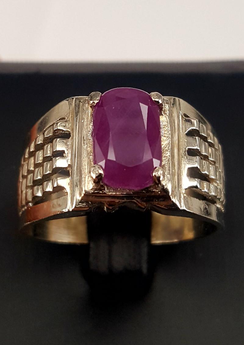 Natural Corundum Men Ring.