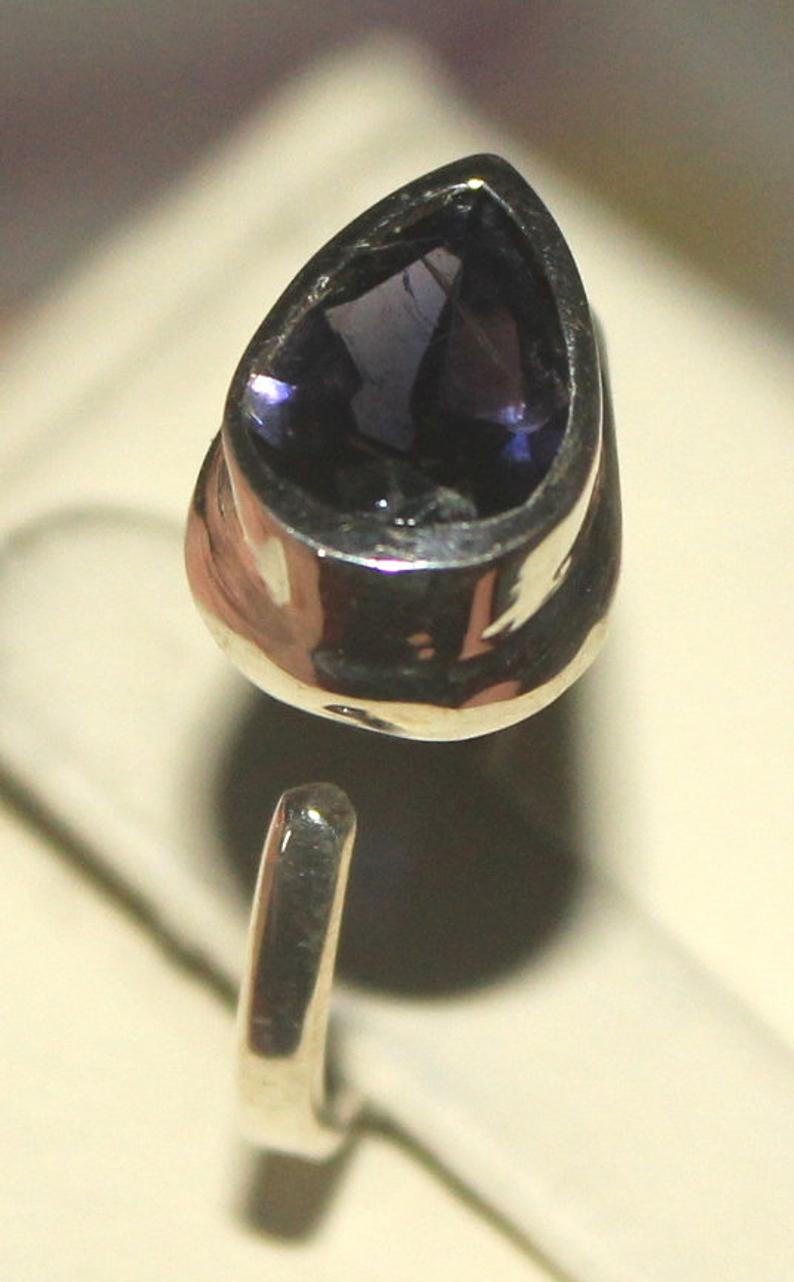 Natural Amethyst 925 Silver Ring 111