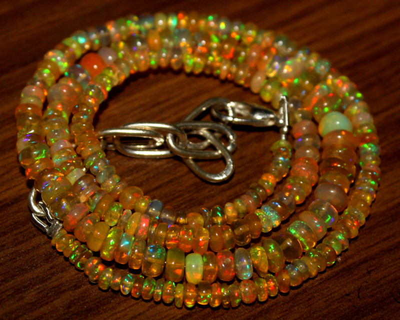 41 Crt Natural Ethiopian Welo Opal Necklace 448