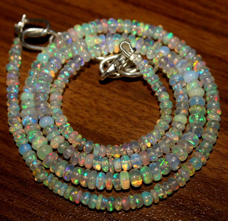36 Crt Natural Ethiopian Welo Opal Necklace 451