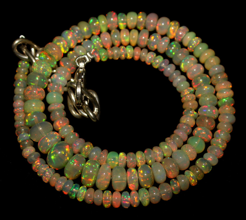 60 Crt Natural Ethiopian Welo Opal Necklace 445