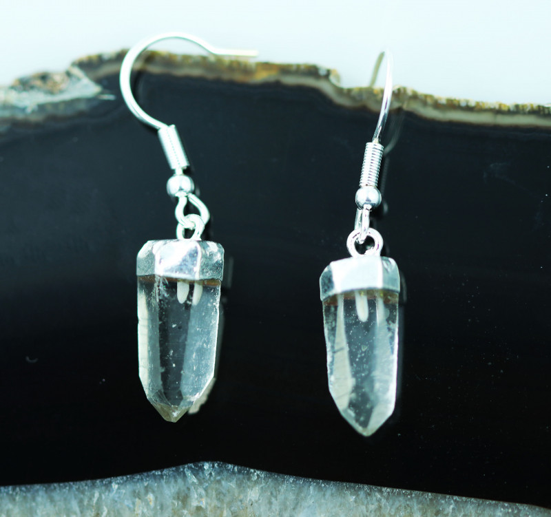 Raw Crystal Points Pair of Earrings BRECRE-1