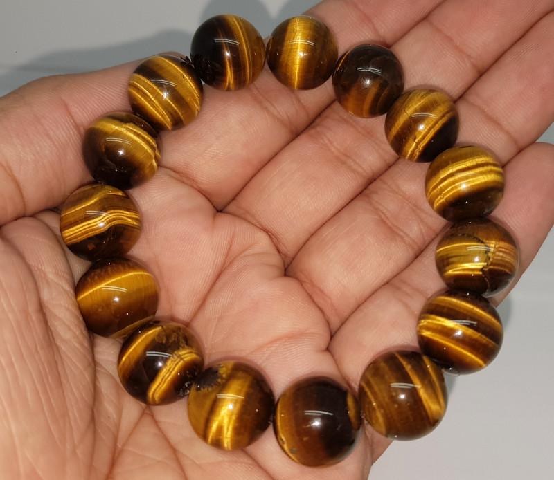 Natural Tiger Eye Bracelet 300.00 Carats