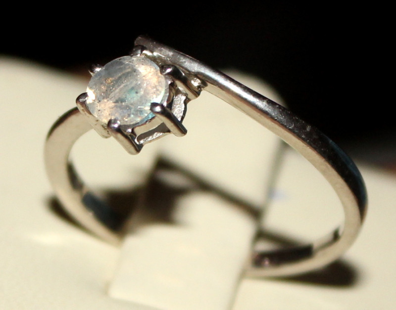 Natural Labradorite 925 Silver Ring 125