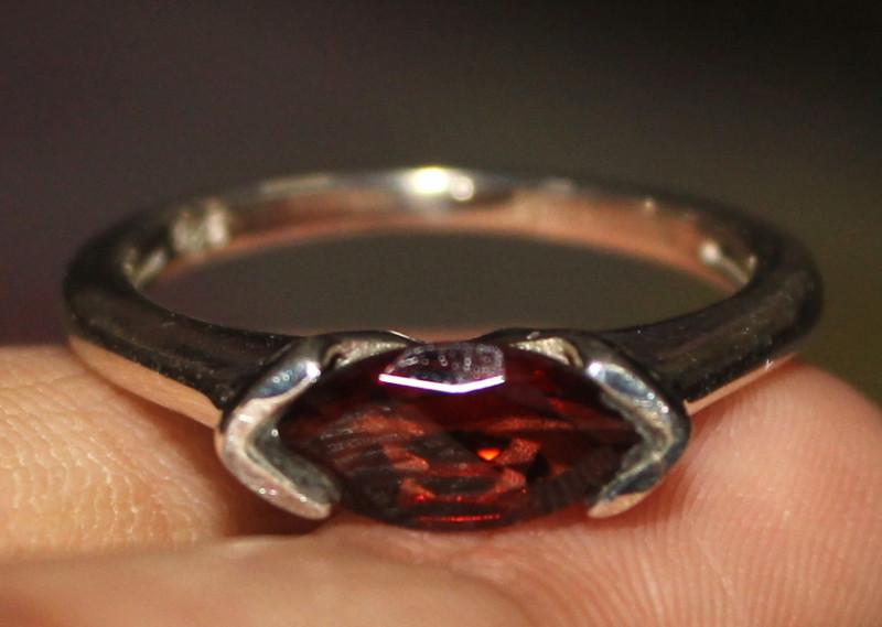 Natural Garnet 925 Silver Ring 10