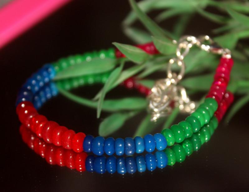 28 Crts Natural Ethiopian Welo Multi Color Opal Bracelet 322