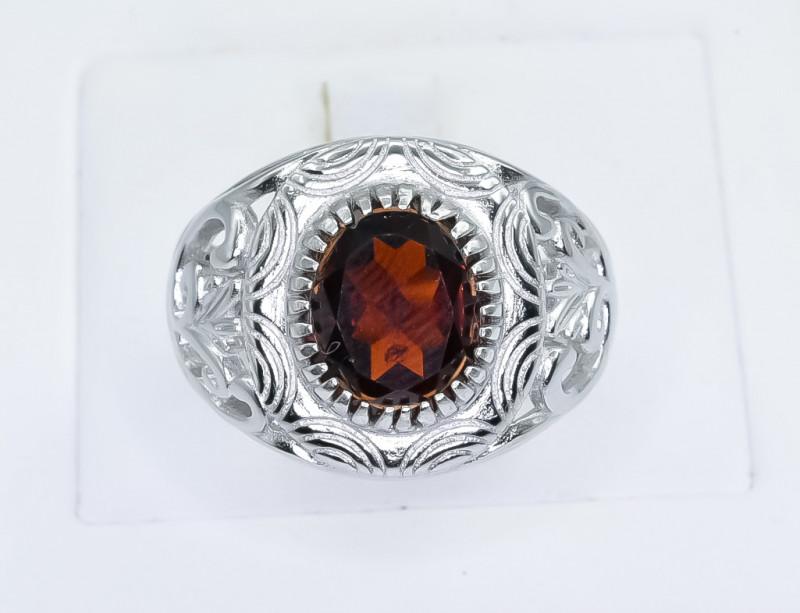 46.32 Crt Natural Garnet 925 Silver Ring