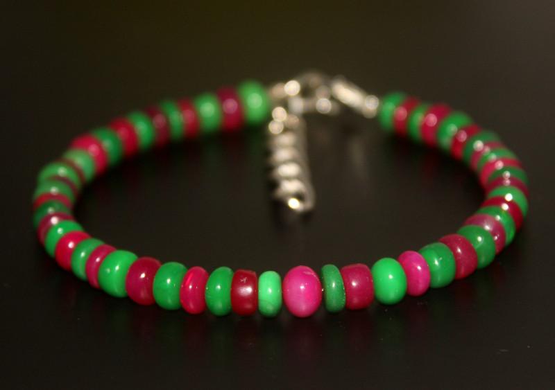 38 Crts Natural Ethiopian Welo Multi Color Opal Bracelet 303