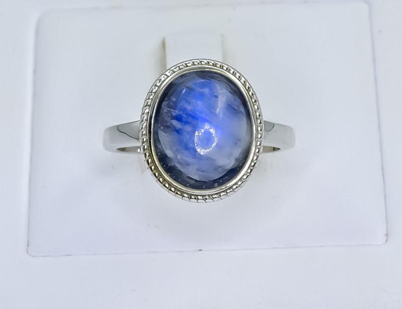 19.80 Crt Natural Labradorite 925 Sterling Silver Ring