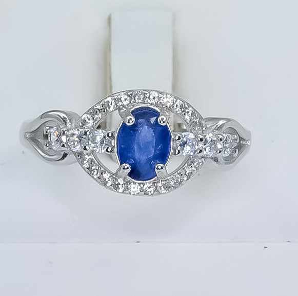 15.69 Crt Natural Composite Sapphire 925 Silver Ring