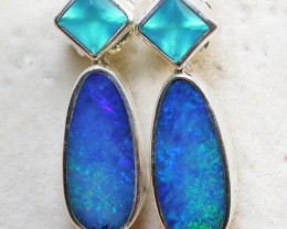 Opal and Gemstone Earrings