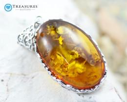 Natural Amber Pendants