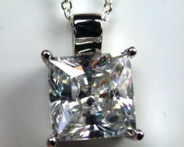 Silver Pendants Manmade Stones
