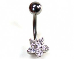 CUTE FLOWER JEWELLED BELLY BUTTON RING ML RN 1151