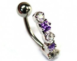 CUTE JEWELLED BAND BELLY BUTTON RING ML RN 1157