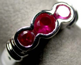 FASHIONABLE MODERN RUBY-LIKE FLASH RING SIZE 7 SCA327