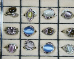 RESELLERS  DEAL 12 CATS EYE  STH  GEMSTONE RINGS  AAT 767