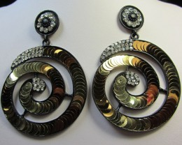 STUNNING ROUND SEQUINCE EARRINGS QT 133