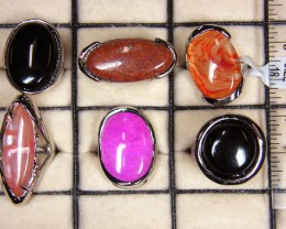 RE SELLERS  DEAL 6 GEMSTONE  RINGS  AAT 1212