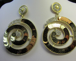 STUNNING ROUND SEQUINCE EARRINGS QT 134