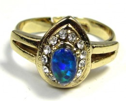 BRIGHT OPAL RING ADJUSTABLE SIZES  CSS 152