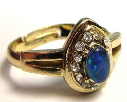BRIGHT OPAL RING ADJUSTABLE SIZES  CSS 153