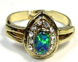 BRIGHT OPAL RING ADJUSTABLE SIZES  CSS 154