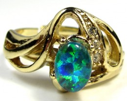 BRIGHT OPAL RING ADJUSTABLE SIZES  CSS 168