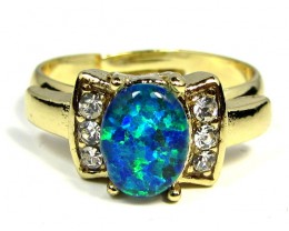 BRIGHT OPAL RING ADJUSTABLE SIZES  CSS 164