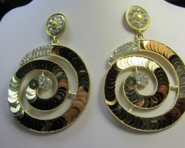 STUNNING ROUND SEQUINCE EARRINGS QT 135
