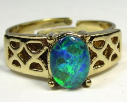 BRIGHT OPAL RING ADJUSTABLE SIZES  CSS 159