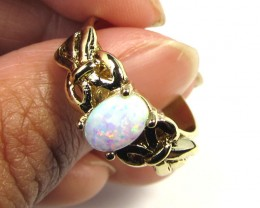 BRIGHT OPAL RING ADJUSTABLE SIZES  CSS 162