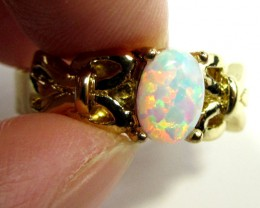 BRIGHT OPAL RING ADJUSTABLE SIZES  CSS 163