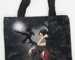 LARGE GOTHID GIRL  RAVEN TOTE BAG LISA PARKER Q554