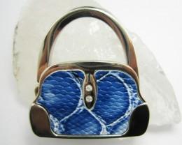BLUE HUES   WELL MADE CUTE HANDBAG HOLDER QT 561