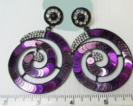 STUNNING ROUND SEQUINCE EARRINGS QT 137
