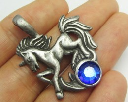 FREE SHIPPING QUALITY MADE PEWTER PENDANT  QT 579