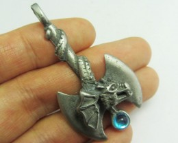 FREE SHIPPING QUALITY MADE PEWTER PENDANT  QT 599