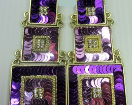 3 TIER STUNNING SEQUINCE EARRINGS QT 141