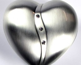 HEART SHAPE  JEWELRY TRINKET BOX  GRR 602