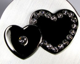 HEART SHAPE JEWELRY TRINKET BOX  GRR 606