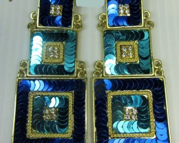 3 TIER STUNNING SEQUINCE EARRINGS QT 144