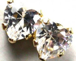 14KT CUBIC ZIRCONIA GOLD EARRINGS 2.50 CTS GTJA359