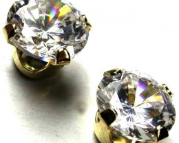 9KT CUBIC ZIRCONIA GOLD EARRINGS 3.30 CTS GTJA356